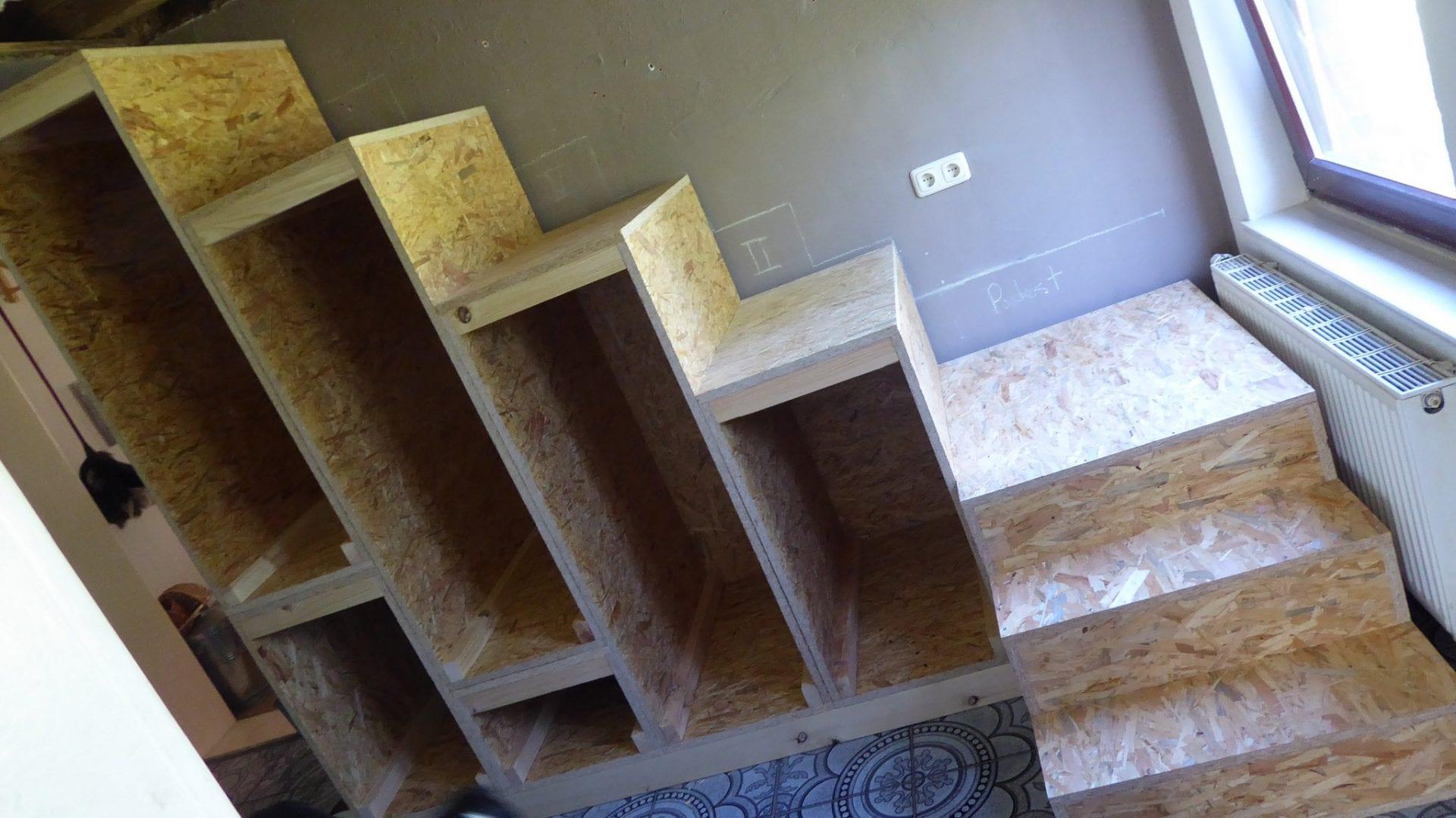 treppe bauen holz